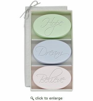Hope Dream Believe-3 Inspirational Soaps