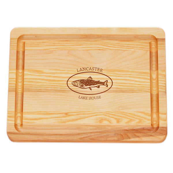 SMALL MASTER COLLECTION BOARD PERSONALIZED TROUT LAKE HOUSE