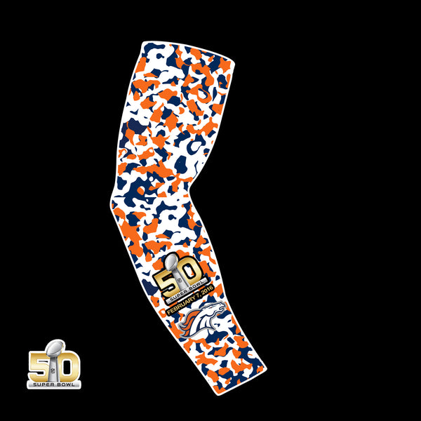 "Denver Broncos Compression Arm Sleeve - Super Bowl 50 Edition ""Bronco Country"""