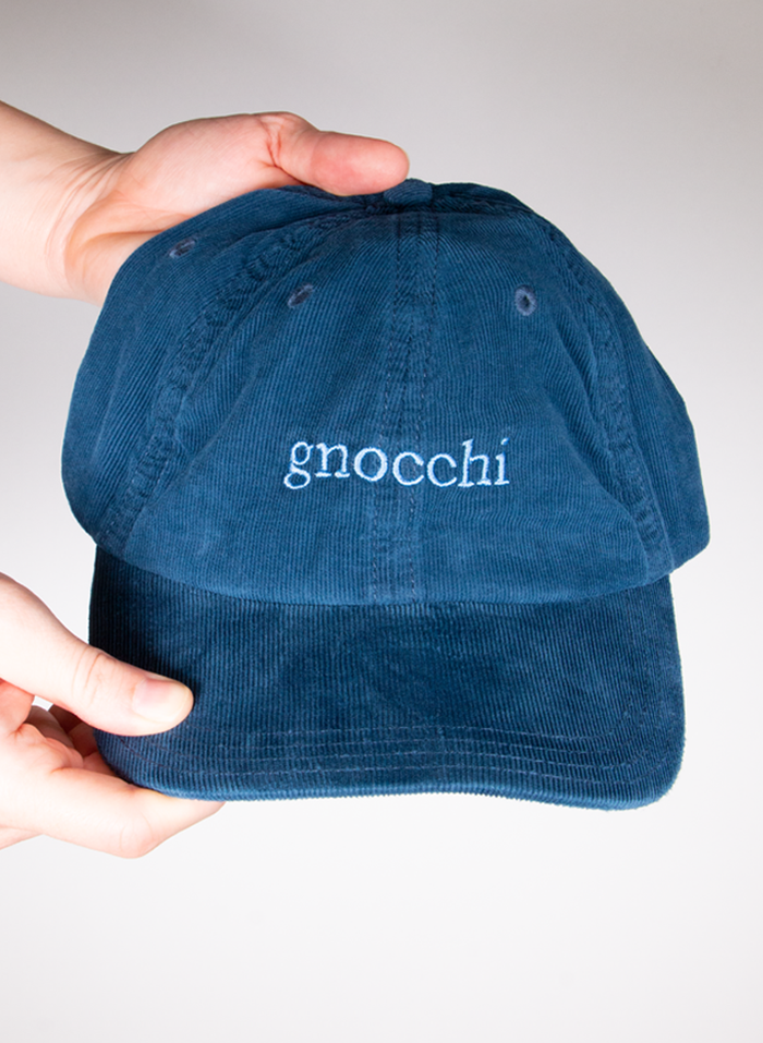 Gnocchi Corduroy Embroidered Cap