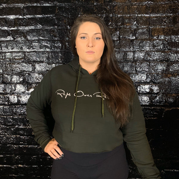 Fleece Lined Crop Hoodies