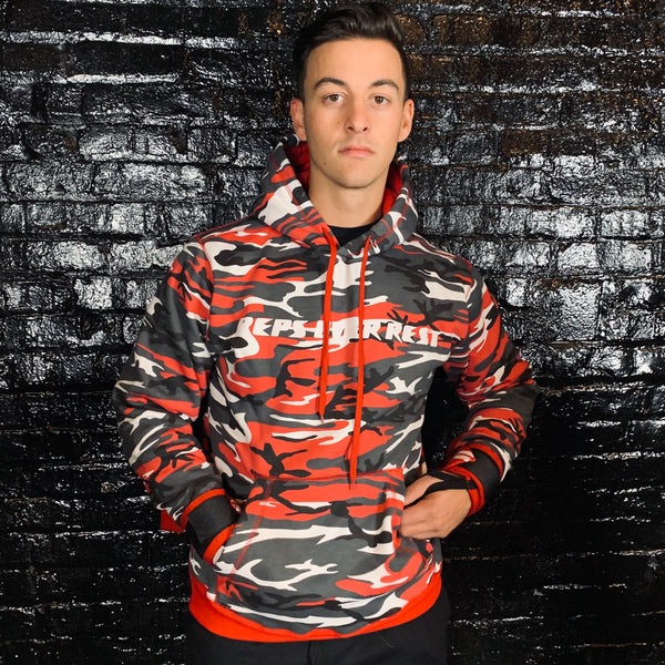 Red Camo Lifting Sweatshirt - Reps Over Rest