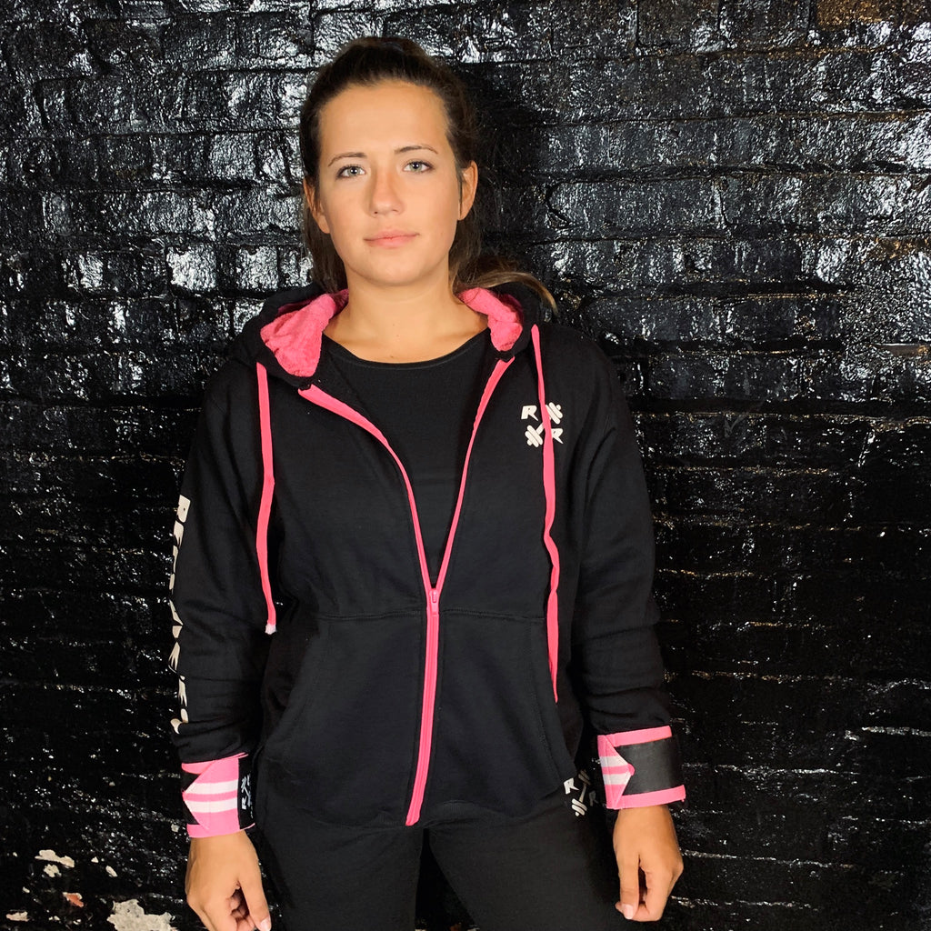 Black & Pink Zipper Lifting Sweatshirt - Reps Over Rest