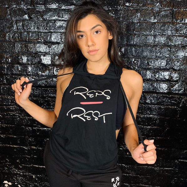 Women's Hooded Stringer - Reps Over Rest