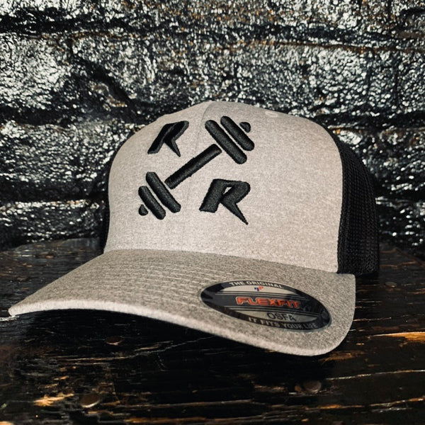 Grey/Black FlexFit Hat - Reps Over Rest