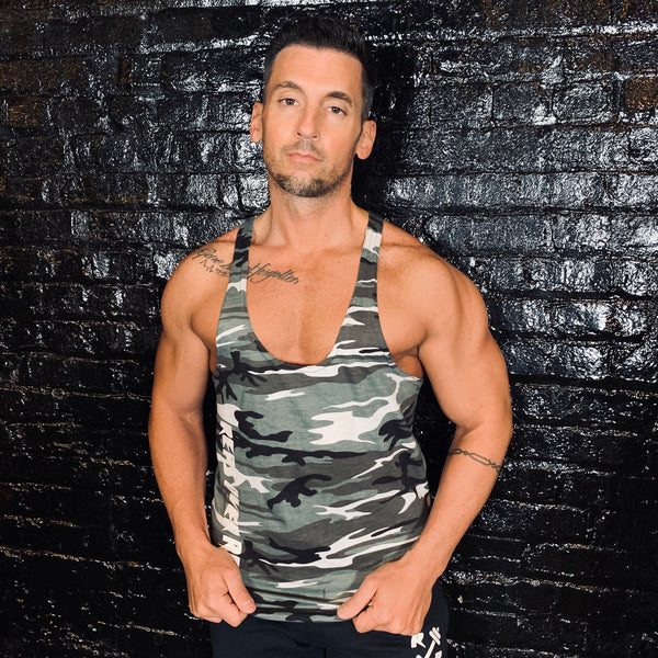 Men's Camo Stringer - Reps Over Rest