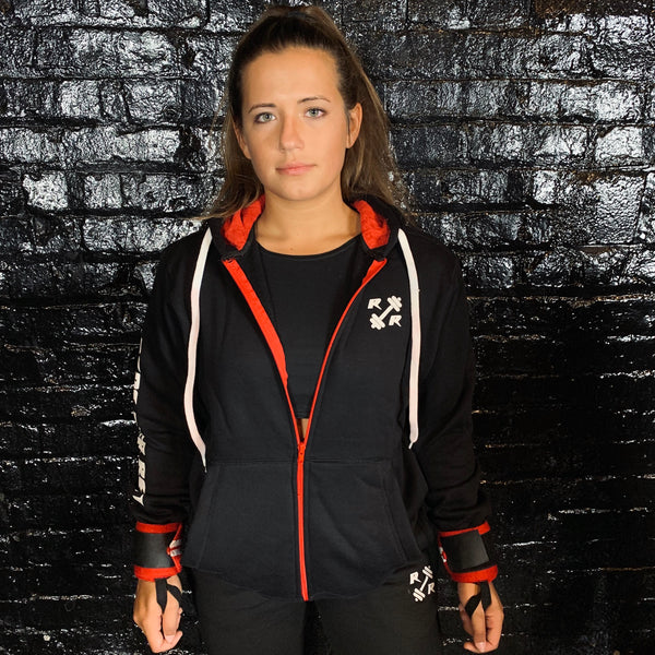 Black & Red Zipper Lifting Sweatshirt - Reps Over Rest