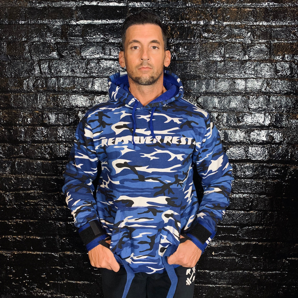 Blue Camo Lifting Sweatshirt