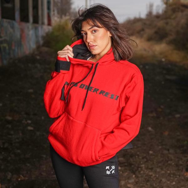 Red & Black Lifting Sweatshirt - Reps Over Rest