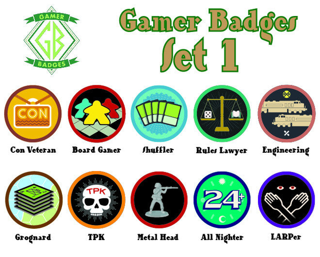 Gamer Badges, Set 1