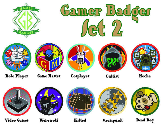 Gamer Badges, Set 2 - JBM Press