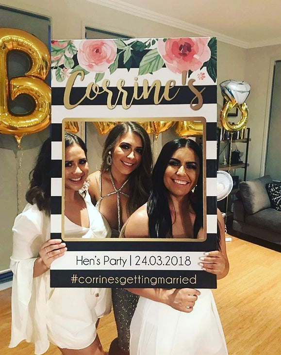 Hens Party / Bridal Shower Photo Booth Frame Props Australia