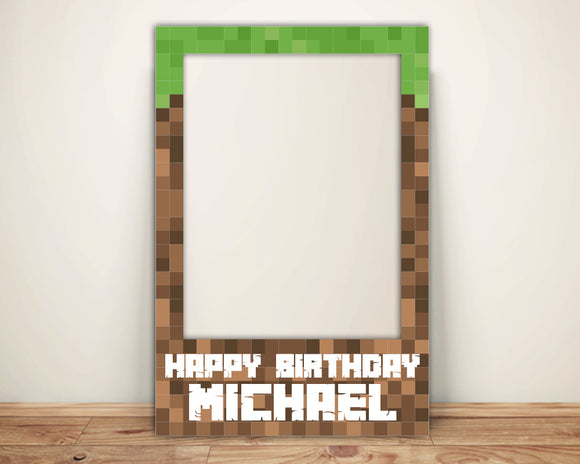 Minecraft Photo Booth Props