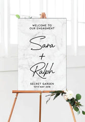 grey-marble-engagement-party-welcome-sign-portrait