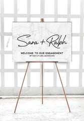 grey-marble-engagement-party-welcome-sign-landscape