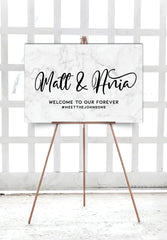grey-marble-wedding-welcome-sign