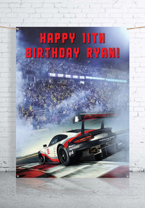 Race Car Birthday Backdrop (1.5 x 2m)