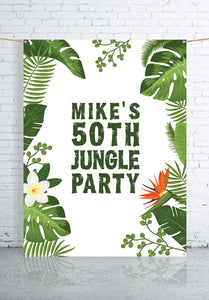 tropical-themed-party-custom-backdrop-banner