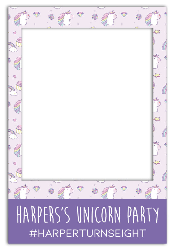 unicorn-theme-party-photo-booth-frame-prop