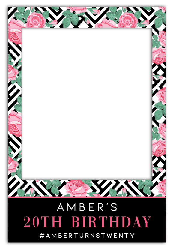 roses-geometric-stripes-birthday-photo-booth-frame-prop