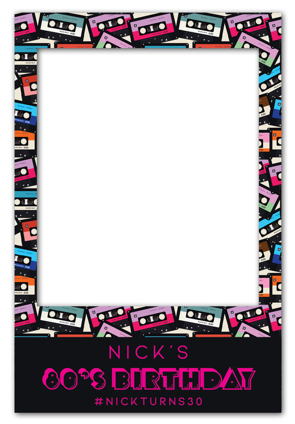 80s-cassette-theme-party-photo-booth-frame-prop