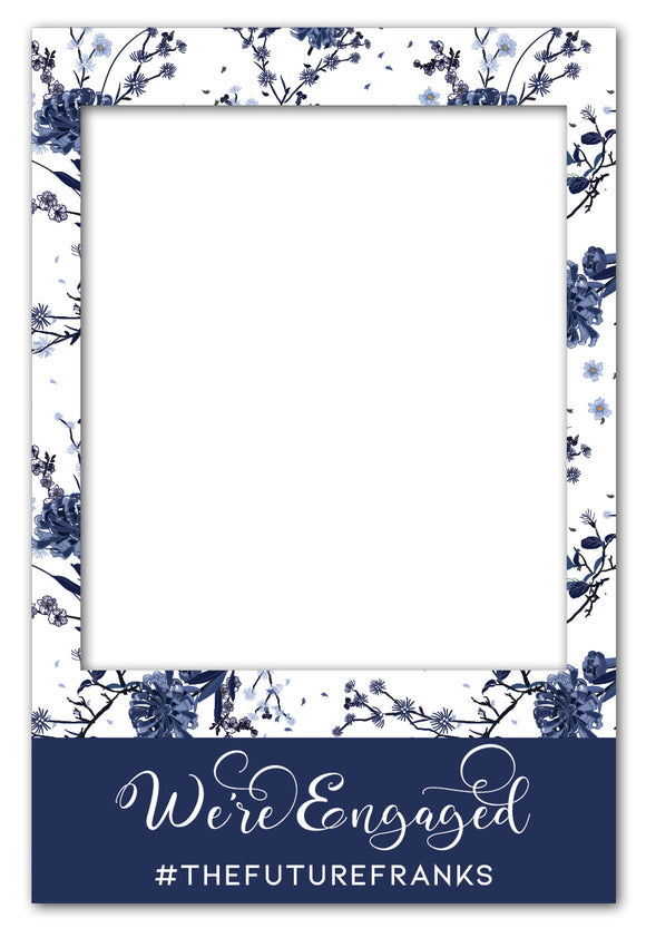 elegant-blue-and-white-flowers-photo-booth-frame-prop