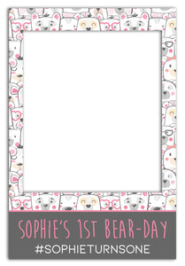 cute-bear-childrens-birthday-photo-booth-frame-prop
