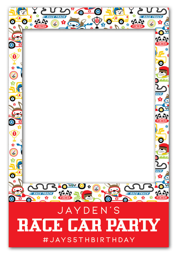 race-car-theme-birthday-party-photo-booth-frame-prop