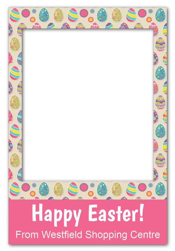 Easter Egg Photo Booth Frame Prop (60 x 90 cm)