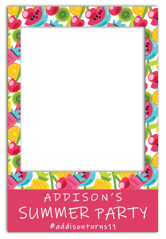 fruit-salad-summer-party-photo-booth-frame-prop