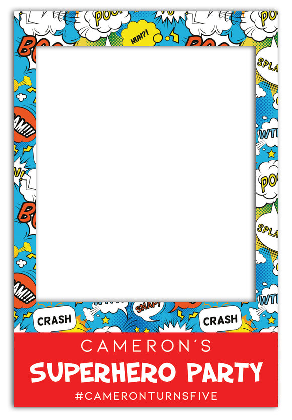 superhero-theme-party-photo-booth-frame-prop