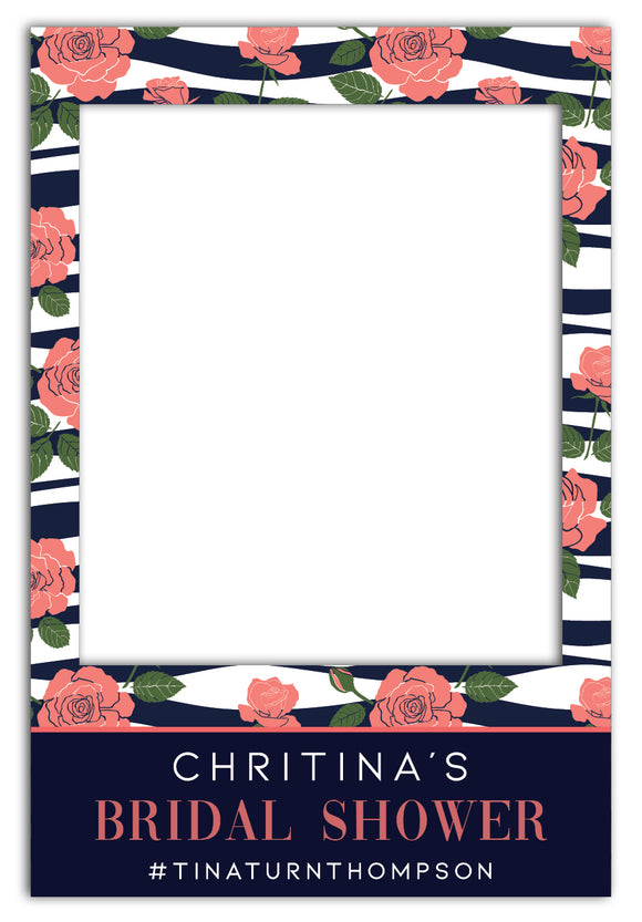 roses-and-navy-hens-party-photo-booth-frame-prop