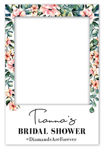 Eucalyptus + Floral Bridal Shower Photo Booth Frame