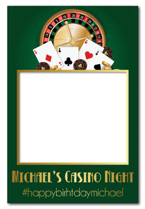 green-casino-party-photo-booth-frame
