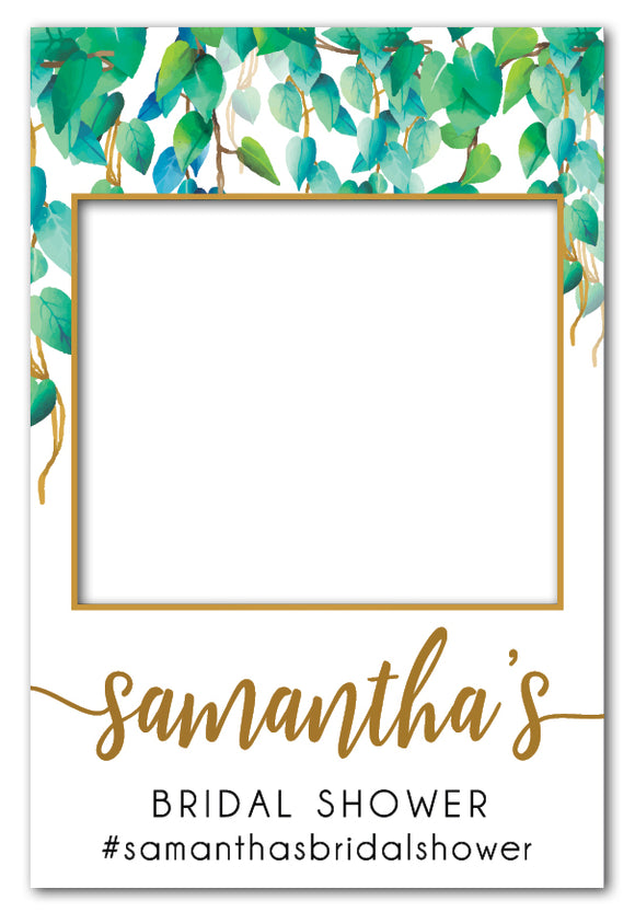 wild_leaves_bridal_shower_photo_booth_frame_large
