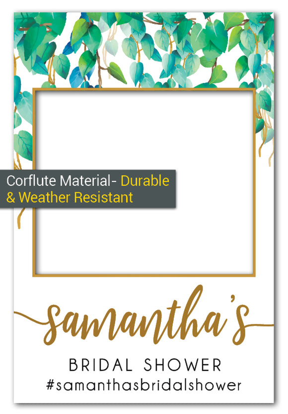 wild_leaves_bridal_shower_photo_booth_frame_large_corflute