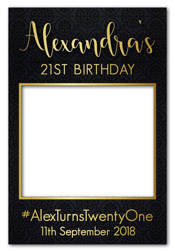 Luxury Birthday Photo Booth Frame Prop (80 x 110 cm) – Framesta