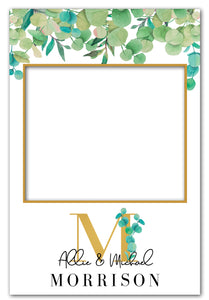 eucalyptus-wedding-photo-booth-frame-prop