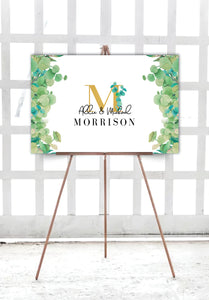 eucalyptus-wedding-welcome-sign