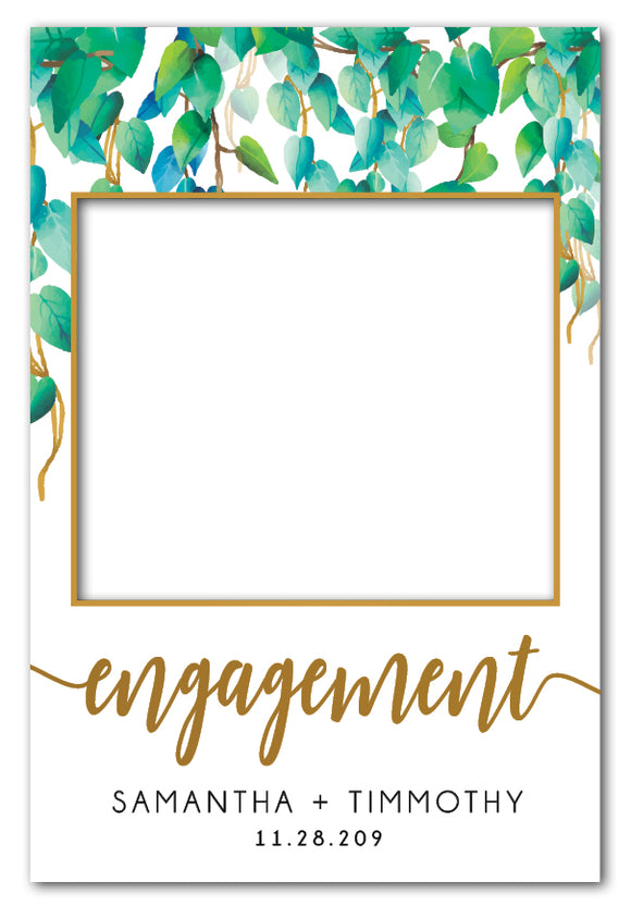 Wild Leaves Engagement Party Photo Booth Frame Prop (60 x 90 cm)