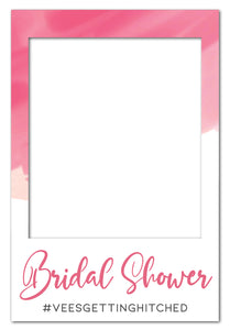 pink-watercolour-bridal-shower-photo-booth-frame