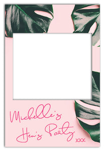 tropical-blush-hens-party-photo-booth-frame