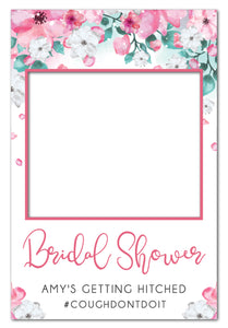 pink-watercolour-flowers-bridal-shower-photo-booth-frame