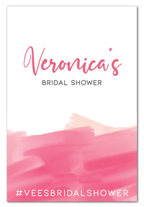 pink-watercolour-bridal-shower-welcome-sign