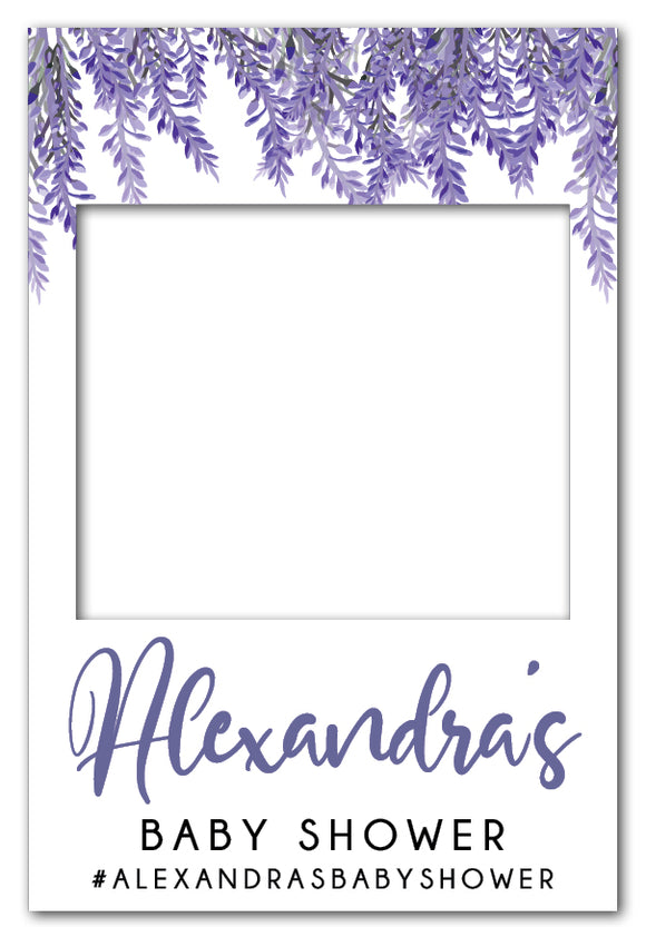 Lavender Baby Shower Photo Booth Frame (80 x 110 cm)