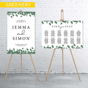 greenery-welcome-sign-and-seating-chart-bundle