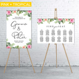 BUNDLE: Welcome Sign & Seating Chart (84.1 x 118.9 cm)