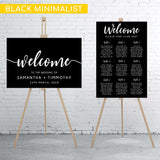 black-minimalist-welcome-sign-and-seating-chart-bundle