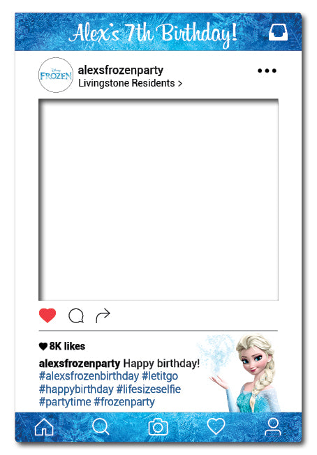 Frozen Instagram Frame Photo Booth Prop 80 X 110 Cm Framesta