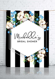 blue-flowers-and-stripes-bridal-shower-backdrop